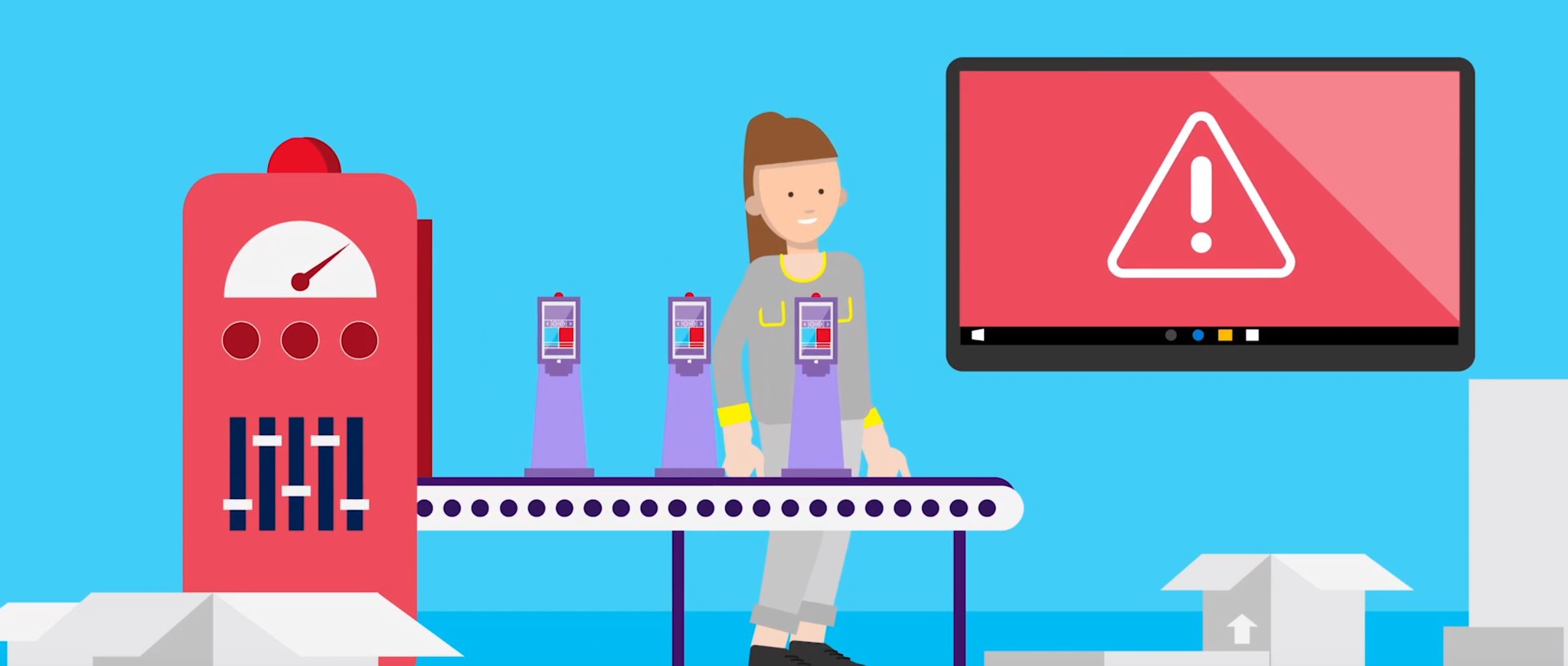 2D character animation image 7 for Microsoft Innovation - manufacturing project