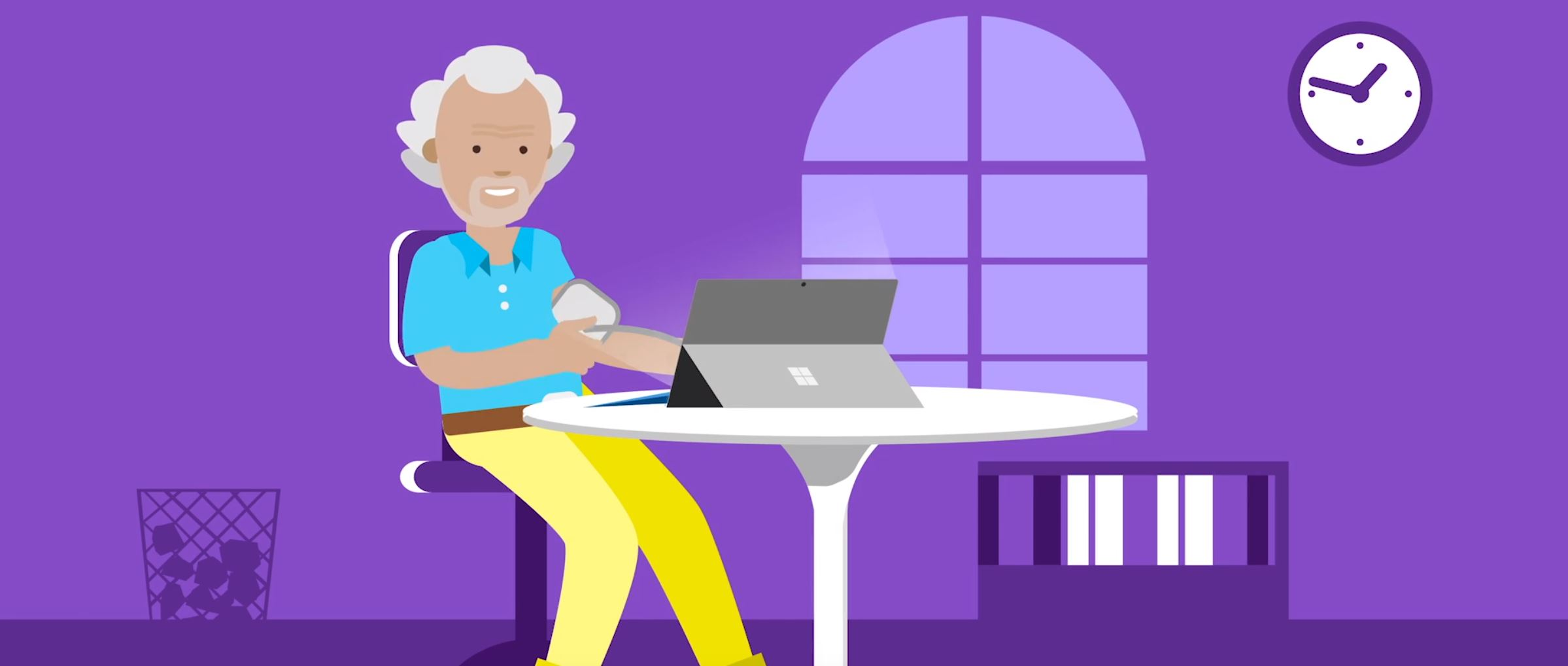 2D character animation image 5 for Microsoft Innovation - health project