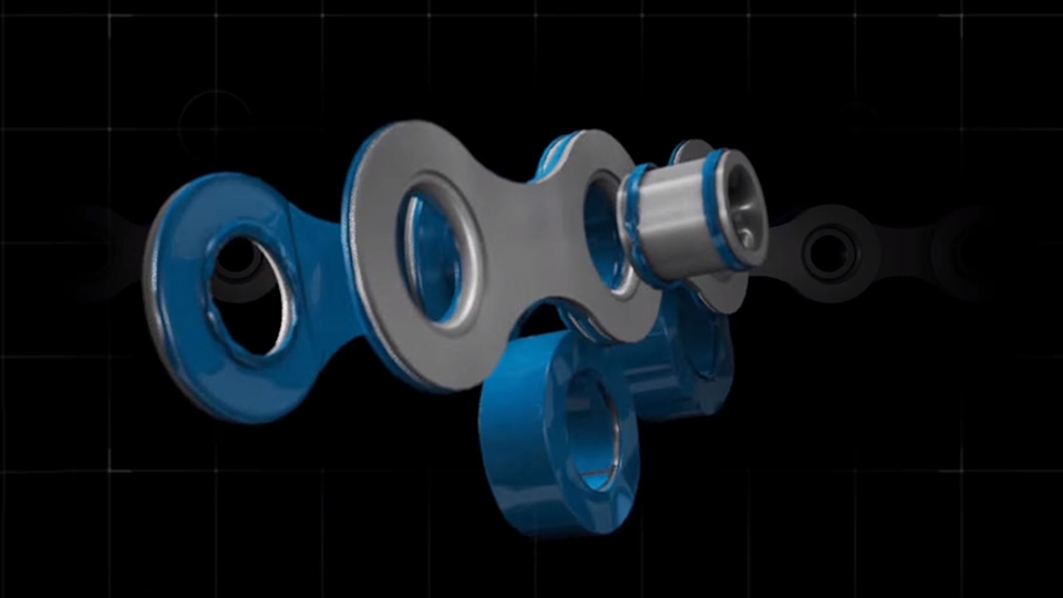 3D animation image 9 for Muc-Off's Hydrodynamic Chain Lube commercial
