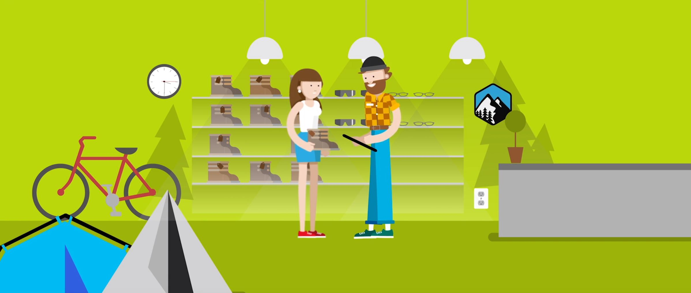2D character animation image 5 for Microsoft Innovation - retail project